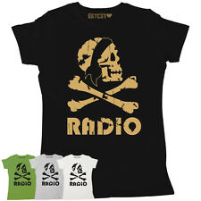 PIRATE RADIO WOMENS VINTAGE PRINT SLOGAN PRINTED T-SHIRT