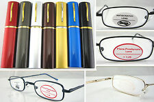 L120 Reading glasses/Aluminum Case/Plane Presbyopia Protect Lenses/Spring Hinges