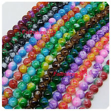 15pcs 12mm Round Chic Glass Loose Spacer Beads Pick 15Colors -1 Or Mixed DIY G07