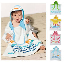 Kid Baby Girl Boy Bathrobe Towel Cloak Hooded Swim Wrap Shower Blanket Animal