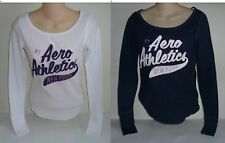 Womens AEROPOSTALE Long Sleeve Aero Athletics Thermal Crew Tee Shirt NWT #6110
