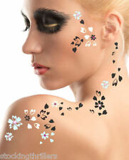 ADDTTOO® Designer Temporary Tattoo + Swarovski® Crystals Unusual Body/Face Art