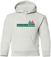 Azteca Airlines Vintage Logo Mexican Airline Hooded Sweatshirt HOODY