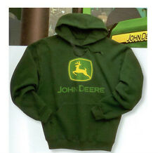 NEW John Deere Forest Green Hoodie Sweatshirt S M L XL 2X 3X  JD