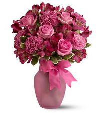 Teleflora Pink Blush Fresh Flowers Bouquet - Flower Delivery by Local Florist