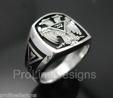 Scottish Rite 32nd Degree Double Eagle #005B Sterling Silver .925 Masonic Ring