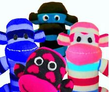 4 Sock Monkey Kits, Choose Your Socks, Boy or Girl or Both, FREE 1ST CLASS POST