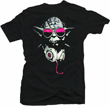 Star Wars Inspired Yoda DJ Tee Music Dubstep Hip Hop Hardstyle House T Shirt New