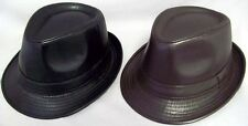 New  1 Pc  Fedora Hat - Men Hat - Women Hat - Faux Leather Hat ( # EFedHat11)