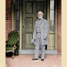 Robert Lee Confederate General Richmond VA Color Tinted photo Civil War 03116