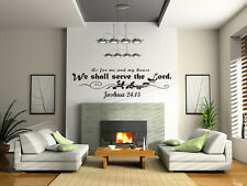 Wall Decal Art Sticker Quote As for Me and My House We Will Serve the Lord J92