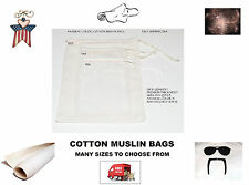 High Quality 4x6 Cotton Muslin Bags. Cooking, Spice,Soap or Craft Bags. Any Qty!