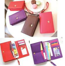Korean cute style wallet cases for Samsung Galaxy Note, S3, S2, iphone 5,4S,4