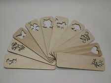 2 x Wooden Bookmarks- Plain Unpainted Bookmarks- Decorate Decoupage Hand Craft
