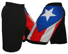 Puerto Rico Flag Mixed Martial Arts Shorts, Blank MMA Shorts