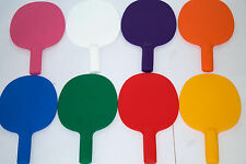 4XRobust plastic table tennis bats/pingpong/Auction/Game paddles(Mr&Mrs)-UK Made