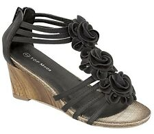 Top Moda Black Faux Leather Slingback Sexy Womens Zip Sandals Shoes Gh-66