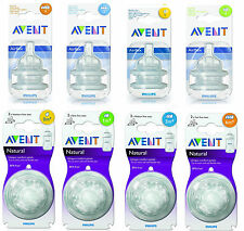 Philips AVENT Bottle Teat Air Flex or Natural Dummy (Packs of 2)