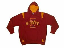 IOWA STATE CYCLONES ADULT EMBROIDERED RED/YELLOW HOODED SWEATSHIRT NWT*
