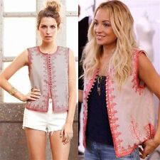 Winter Kate - Ranji Vest in Rose  - 100% Tencel - as seen on  Nicole Richie
