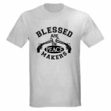 BLESSED ARE THE PEACE KEEPERS PRO GUN PISTOL T-SHIRT