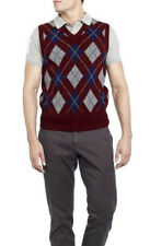 POLO RALPH LAUREN BURGUNDY WINE ARGYLE GOLF VEST LAMBSWOOL WOOL S M L $165+