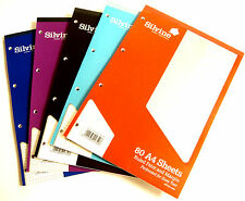 A4 Refill Pad Ruled Graph Paper Square Paper Plain Paper Silvine Refill Pads New