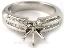 PLATINUM CHANNEL SET DIAMOND ENGAGEMENT RING SOLITAIRE SETTING