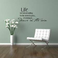 Dance in the Rain Vinyl Wall Saying Decal Sticker 11x23