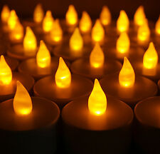 LED Tea Lights Flameless Candles - Great for Luminaries! Parties & Weddings