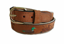 Zep-Pro Embroidered Leather Canvas Belt    MALLARD DUCK    NWT  pick your size