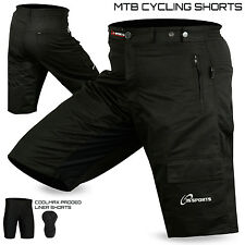 MTB Cycling Cycle Short Off Road With Padded Liner Short  Size - S, M, L, XL