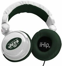 New York Jets NFL Licensed iHip DJ Style Noise Isolating Headphones