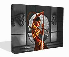 Fantasy Canvas Print Wall Art Premium Chinese Warrior Red Splash Picture Framed