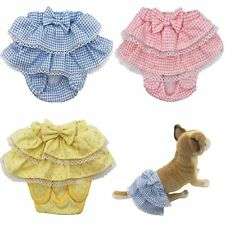 "USA SELLER  Dog Diaper Sanitary Pants Female Girl Ruche SKIRT Waist  7"" - 16"""