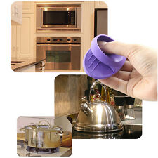 Silicone Hot Cooking Utensil Pot Pan Oven Dish Mitt Holder Glove Claw Grip Tongs