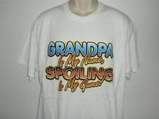 GRANDPA NAME SPOILING IS MY GAME ! White Tee Shirt SMALL To 5XLARGE  NWOTS
