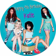 """Little Mix 7.5"""" ROUND Cake Topper Rice Paper/Icing 24HR POST!"""