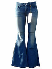FACE OFF Jeans - Blue Denim Flares - NEW WITH TAGS