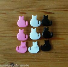 Novelty Buttons - Cat - Baby/ Dolls Clothing - Knitting - Sewing - Cards