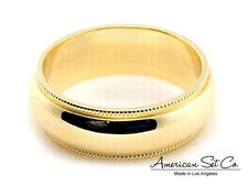 14K YELLOW GOLD 6mm MILGRAIN COMFORT FIT WEDDING BAND size 13 13.25 13.5 13.75