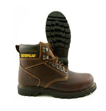 CAT (CATERPILLAR) SECOND SHIFT BROWN LEATHER WORK BOOTS WIDE P72365