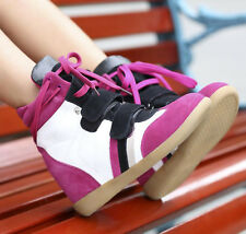 Woman Velcro Strap lacing High-TOP Sneakers Shoes / Ladys Ankle Wedge Boot F81#