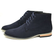 Men's Casual & Formal Ankle Desert Boots Navy UK 6 - 12 EU 40 - 46 Brand New