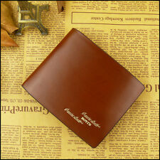 Men's Genuine Leather Wallet Multi Pocket Purse Bifold Style  free shipping