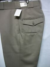 HORACE SMALL MEN'S CHP TAN PANTS NEW 55/45 POLY/WOOL MADE IN USA W/ 1/2 POCKET