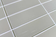 "Sheep's Wool Beige 4"" x 12"" Glass Subway Tiles for Kitchen Backsplash/Bathroom"