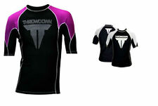 THROWDOWN MMA Workout Rash Guard SS T Shirt Grappling Jersey Thermal NWT