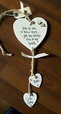 Friend Husband Wife Miles Apart Leaving Birthday Christmas GIFT Heart Plaque