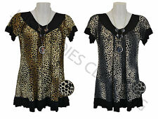 NEW LADIES WOMEN PRINT CHAIN SMOCK TOP PLUS SIZE 16,18,20,22,24,26,28 #ANCHAIN